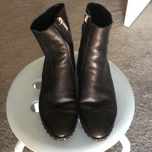 Topshop Kash Leather Sock Boots